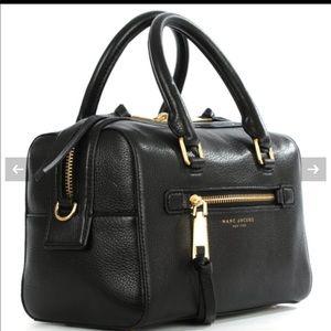 Marc Jacobs Black Leather Bowler Bag